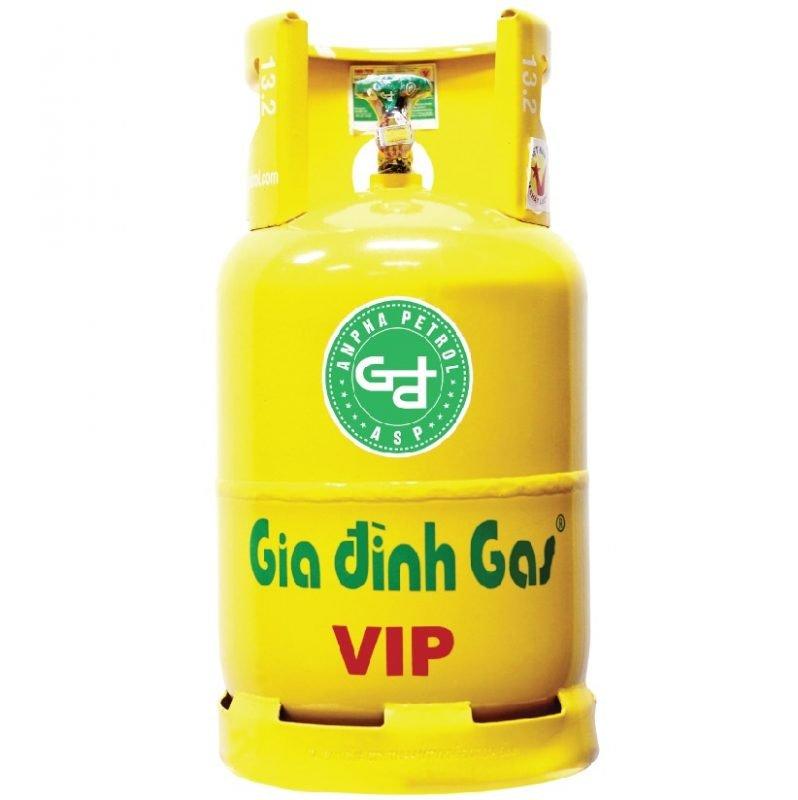 Bình gas Gia Đình Vàng VIP 12kg chính hãng an toàn
