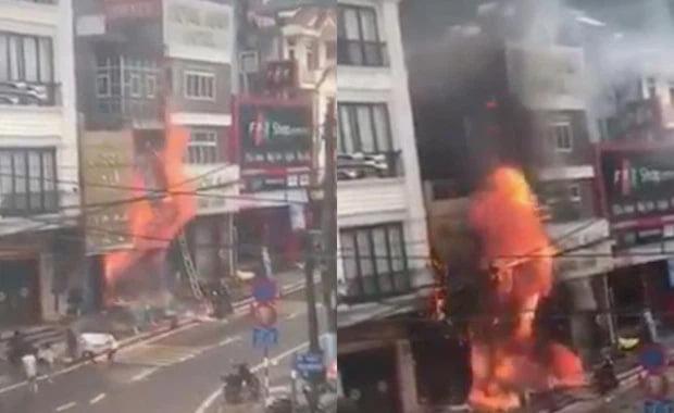 cháy cửa hàng gas ở SAPA